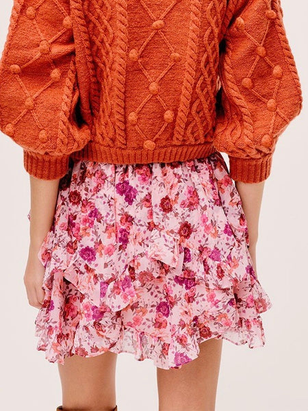 Evie Mini Skirt in Tearose
