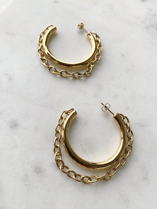 Gianna Chain Hoop