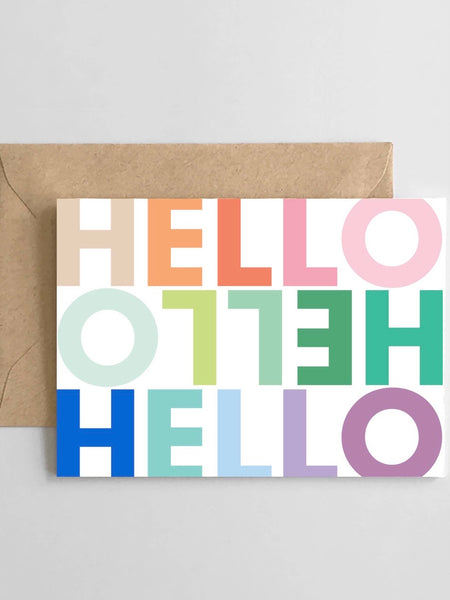 Greeting Card - Rainbow Hello