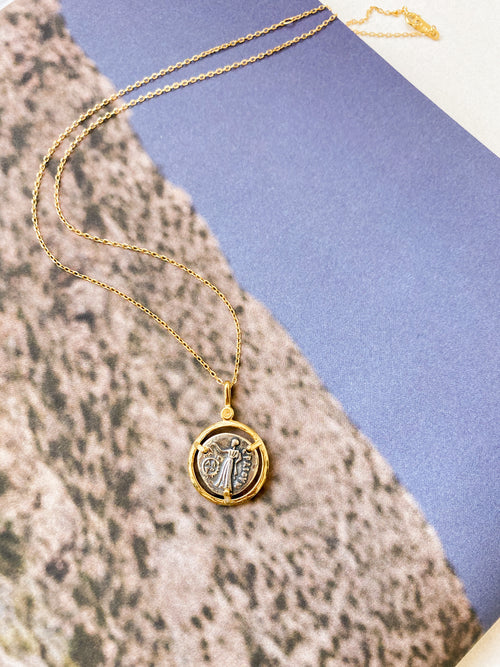 Elis Roman Coin Necklace