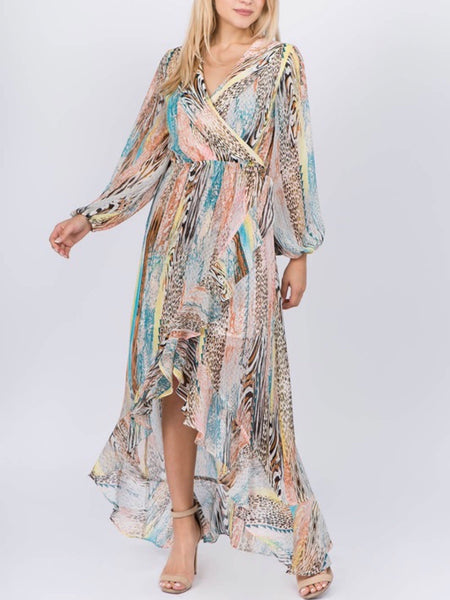 Wrap Front Safari Dress