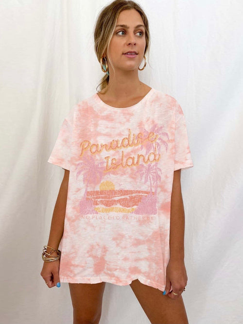 Airport Tee in Paradise Island Graphic