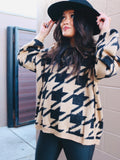 Houndstooth So Soft Sweater