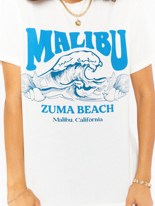 Travis Tee in Malibu Beach Graphic