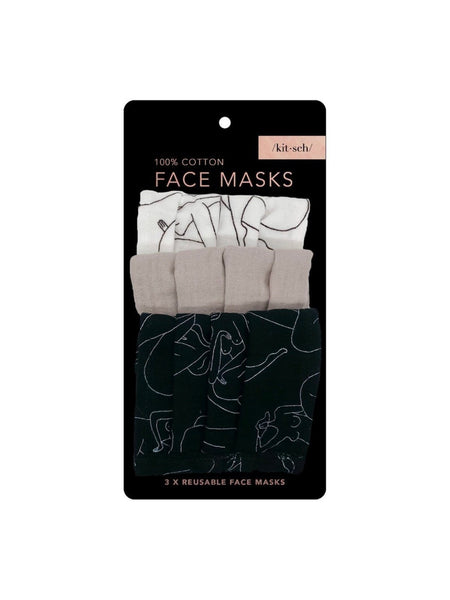 Cotton Face Mask Set - Body Positivity