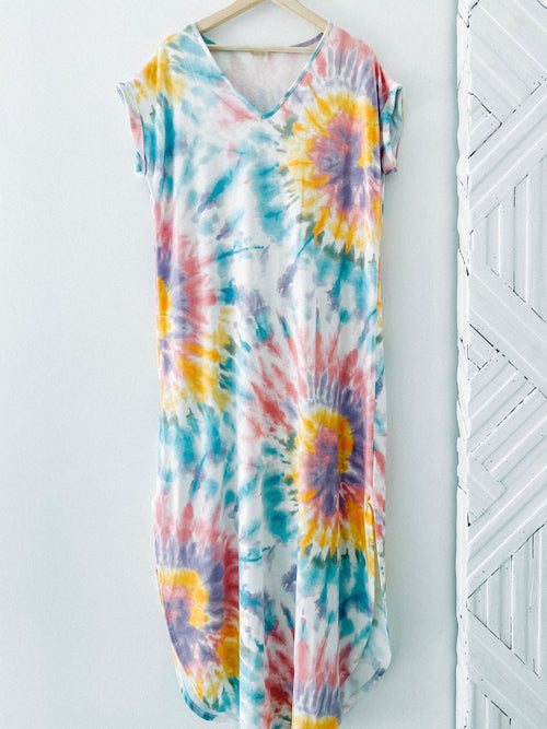 Tie Dye for Life T-Shirt Maxi Dress