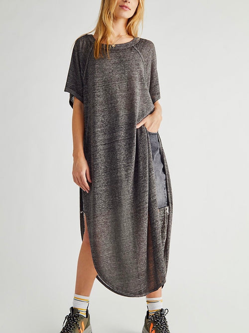 Spring Breeze Tunic in Charcoal