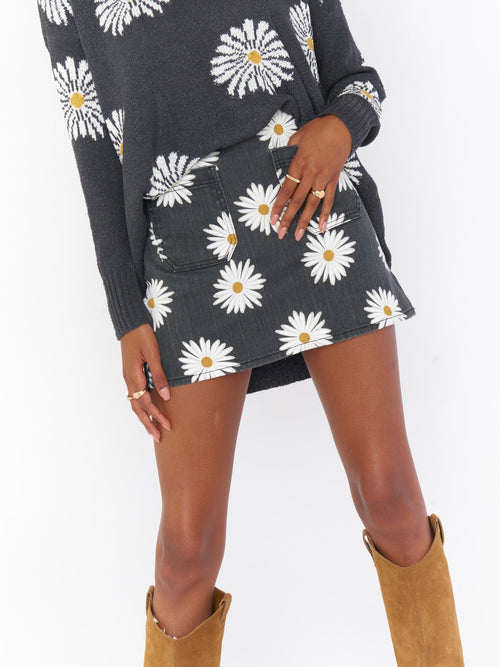 Rex Mini Skirt in Daisy Love