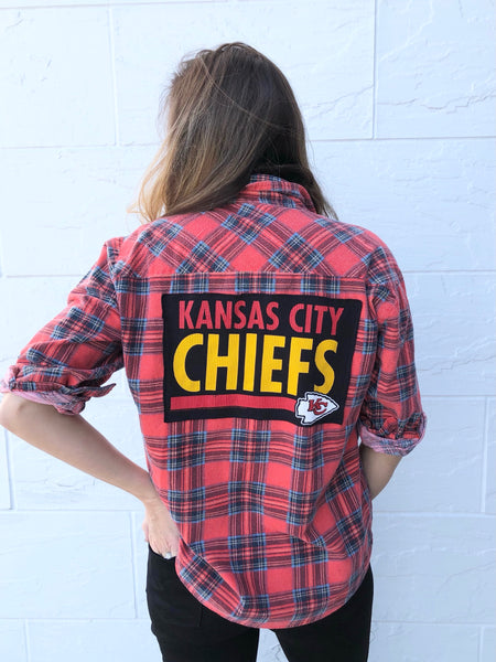 KC CHIEFS Reworked Flannel #2 Red