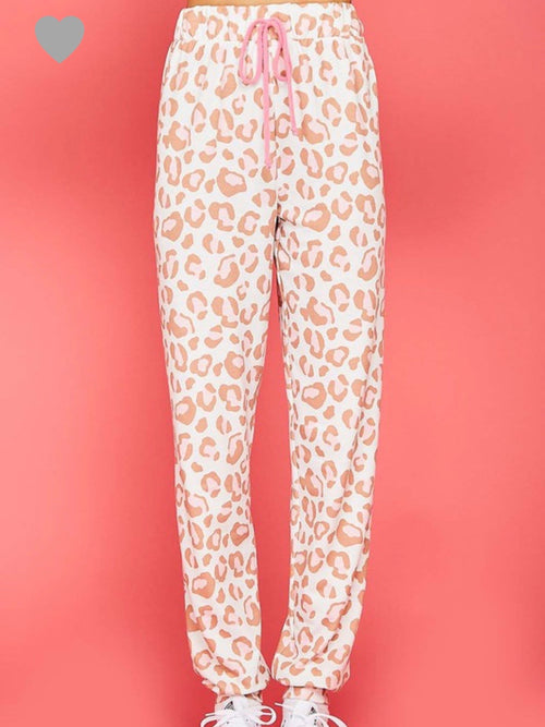 Pink Lady Leopard Pants