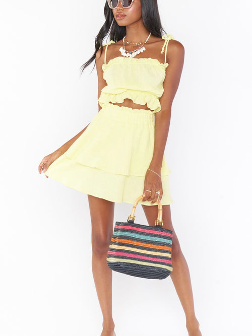 Aiden Mini Skirt in Lemon