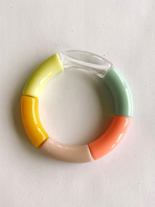 The Brooke Acrylic Bracelet in Spring Mix