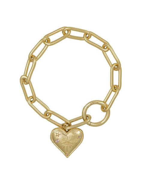 Harlow Gold Locket Bracelet