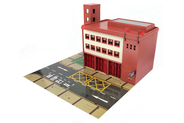 Tiny City Ps1 Fire Station Diorama Playset