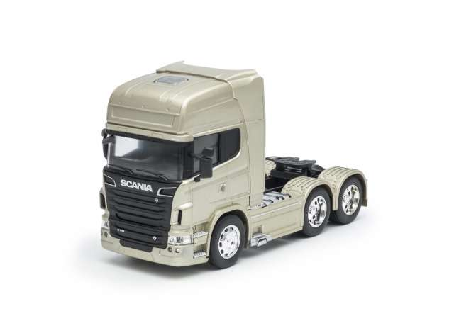 Welly - 2015 Scania V8 R730 6x4 - gold 1:32