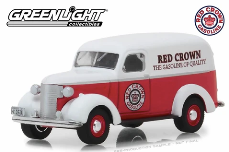 Greenlight - 1939 Chevrolet Panel Truck Red Crown Gasoline