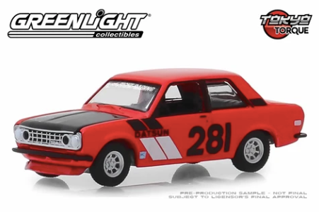 Greenlight - 1970 Datsun 510 #281 Turn Right Racing
