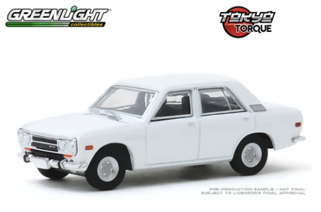 Greenlight - 1972 Datsun 510 4-Door Sedan - White