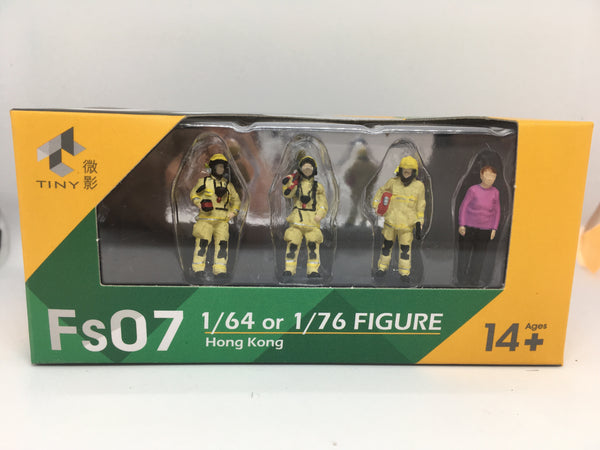 Tiny HK Fire and Rescue figures for dioramas