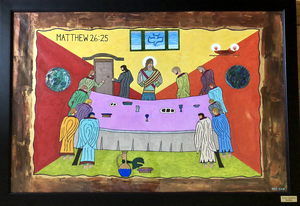 Last Chance Supper - Emotionalism Theme painting by Giacobbe Mazone
