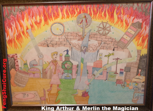 Merlin Teaches King Arthur (2018) Original by Benjamin Mazone