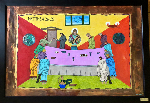 Last Chance Supper - Original Painting by Giacobbe Mazone