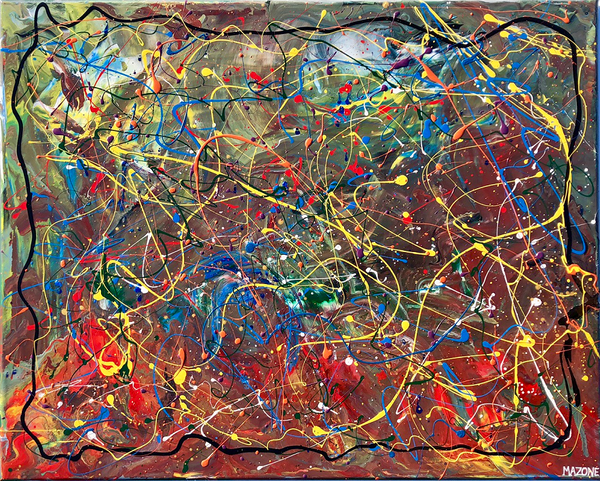 Pollock-Richter Project© (#12) Original by Giacobbe Mazone