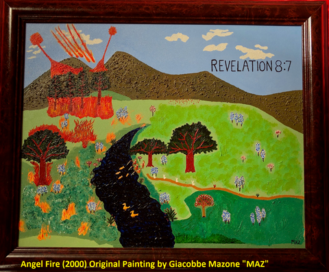 Angel Fire (2000) Original Painting by Giacobbe Mazone