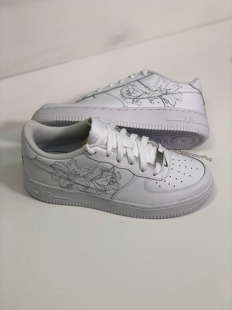 CUSTOM REFLECTIVE LILY FLOWER NIKE AIR FORCE 1