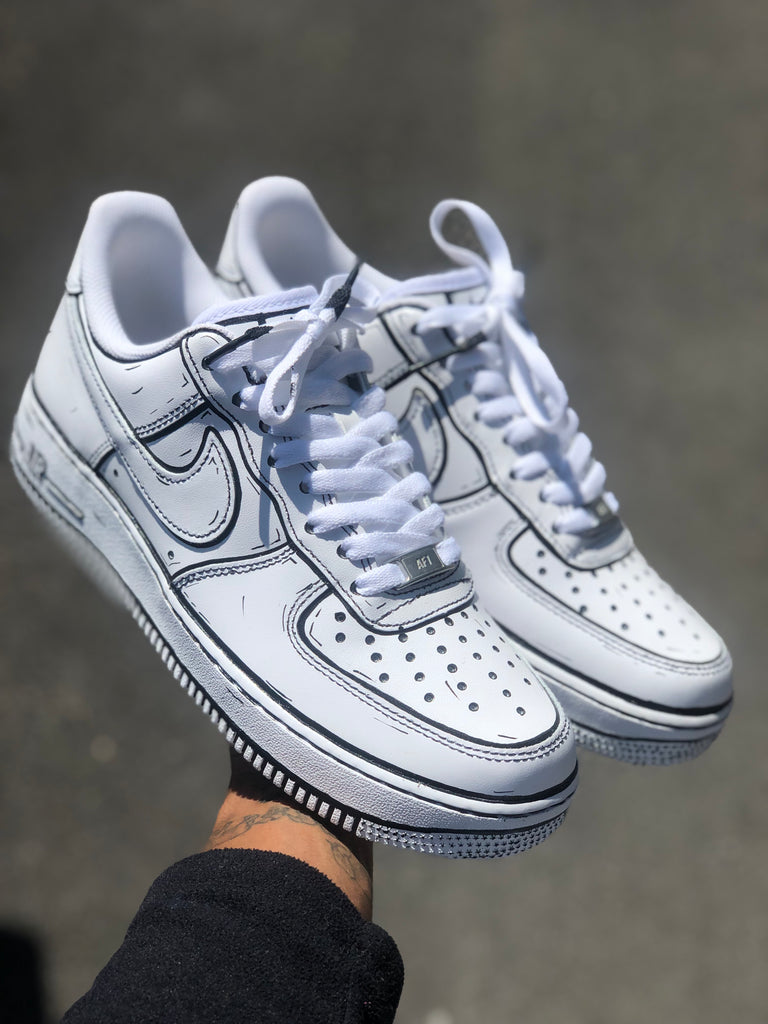 air force 1 custom cartoon