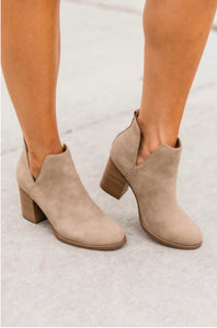 Walk This Way Tan Booties