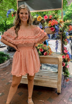 Load image into Gallery viewer, Just Peachy Ruffle Dress