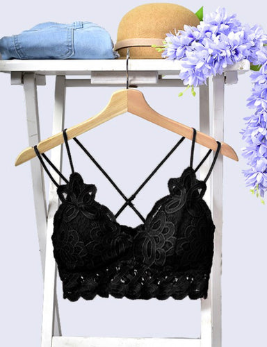 These Are The Days Bralette- Black
