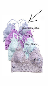 These Are The Days Bralette- Brunnera Blue