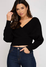 Load image into Gallery viewer, Taylor Black Sweater Top
