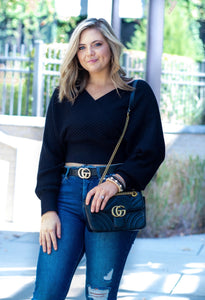 Taylor Black Sweater Top