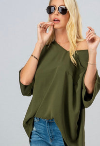 Can't Get Enough Olive Blouse