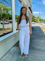 Load image into Gallery viewer, Beach Lovin Jumpsuit- Off White