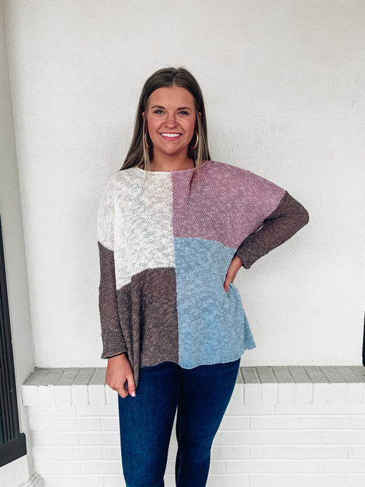 Spring In The Air Colorblock Sweater
