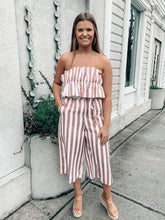 Load image into Gallery viewer, Off To Paradise Striped Jumpsuit