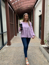 Load image into Gallery viewer, Secret Obsession Purple Waffle Knit Top