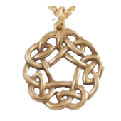 Bronze Circle of Knots Pendant