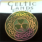 Celtic Lands Enamel Brooch - Shamrock