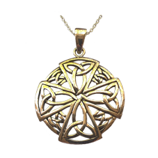 Large Ancient Celtic Cross Pendant