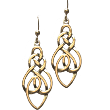 Large Celtic Knot Drop Earrings