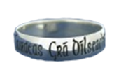 Gaelic Writing Claddagh Ring