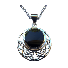 Celtic Knot Pendant with Black Onyx Stone