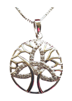 Tree of Life Pendant with Trinity Knot