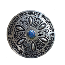 Celtic Brooch with Manufactured Opal