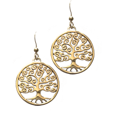 Swirl Tree Earrings